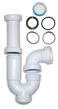 "U-bended drainpipe for hand wash basins 1 1/2"""