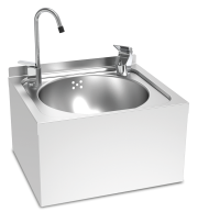 Stainless steel wall-mounted water fountain