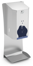 Distributeur automatique de gel hydroalcoolique en acier inox