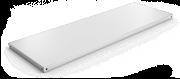 Étagère inox alimentaire lisse pour rayonnages modulaires épaisseur 0,8 mm