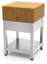 Cepo de corte com madeira de bétula com aba e entrepano