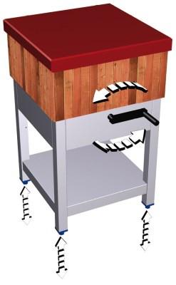 Kit d'élévation pour billots de boucher