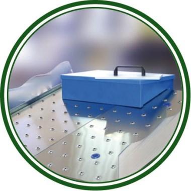 Plaque de découpe en polyéthylène pour étal à poisson