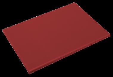 Rotes Schneidbrett aus Polyethylen P500 mit hoher Schnittfestigkeit