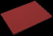 Plaque de découpe en polyéthylène rouge P500