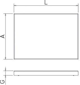 Plaque de découpe en polyéthylène blanc P500