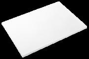 Weißes Schneidbrett aus Polyethylen P500 mit hoher Schnittfestigkeit