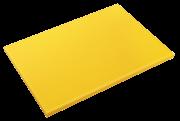 Gelbes Schneidbrett aus Polyethylen P500 mit hoher Schnittfestigkeit