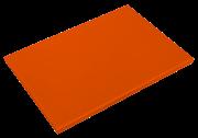 Oranges Schneidbrett aus Polyethylen P500 mit hoher Schnittfestigkeit