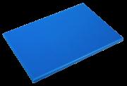 Blaues Schneidbrett aus Polyethylen P500 mit hoher Schnittfestigkeit