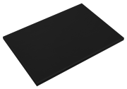 Schwarzes Schneidbrett aus Polyethylen P500 mit hoher Schnittfestigkeit