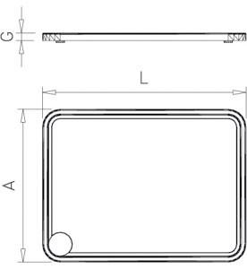 plaque de d coupe de c te de boeuf rectangulaires en poly thyl ne table inox lave mains inox. Black Bedroom Furniture Sets. Home Design Ideas