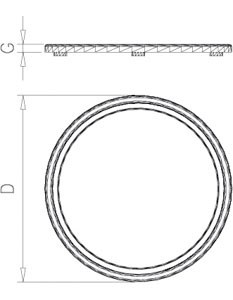 plaque de d coupe de c te de boeuf circulaires en poly thyl ne table inox lave mains inox. Black Bedroom Furniture Sets. Home Design Ideas