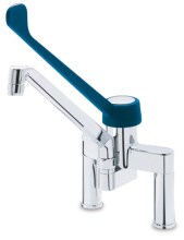 Monoblock-elevated model double inlet one handle tap elbow funtioning