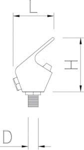 Robinet pour fontainse sans bouton-poussoir