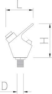 Armatur für Trinkbrunnen mit Druckknopf