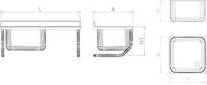 sp le aus edelstahl zum aufh ngen mit becken und abtropffl che rechts mit wandw k chensp len. Black Bedroom Furniture Sets. Home Design Ideas