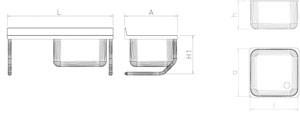 sp le aus edelstahl zum aufh ngen mit becken und abtropffl che links mit wandwi k chensp len. Black Bedroom Furniture Sets. Home Design Ideas