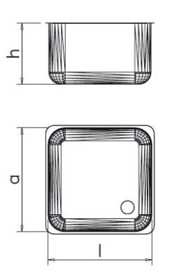 Spültisch aus Edelstahl mit 2 Becken und Abtropffläche rechts