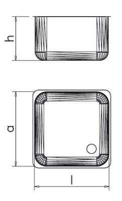 Plonge inox pour lave-vaisselle espaces réduits avec 1 bac et égouttoir à droite