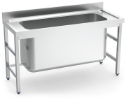 Stainless steel standing sink without shelf 1 high capacity tank