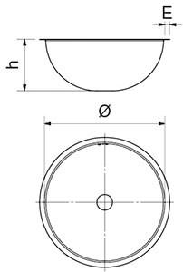 Stainless steel semi spherical sink bowl
