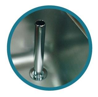 Cuve inox à souder ou encastrer rectangulaire