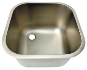 Stainless steel rectangular sink to be welded or built-in