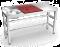 Table de préparation et de lavage inox 1500 mm rouge, bleue ou blanche
