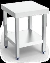 Table centrale inox avec étagère, spécial machines