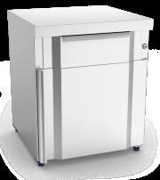 Box modulaire 1 tiroir et porte inox