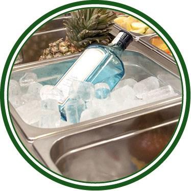Table de préparation de cocktails