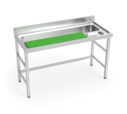 Stainless steel vegetable preparation table