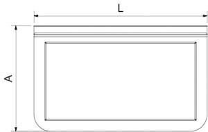 Adaptateur de bacs GN 1/3 et 1/6 pour chariots de service