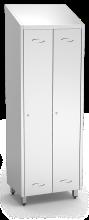 Spind, Umkleideschrank mit einem Abteil und 2 Türen, aus Edelstahl