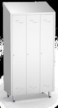 Spind, Umkleideschrank mit einem Abteil und 3 Türen, aus Edelstahl