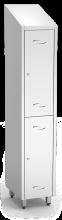 Spind, Umkleideschrank mit zwei Abteilen und 2 Türen, aus Edelstahl