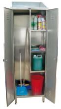 Armário inox para produtos de limpeza - 2 portas