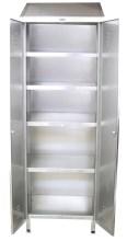 Armoire rayonnage inox de 2 portes