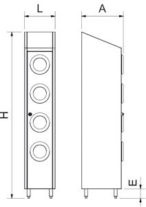 Conteneur de recyclage vertical