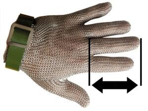 Stechschutzhandschuh aus Edelstahl mit Verschlussarmband
