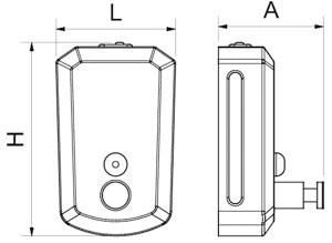 Distributeur de savon en inox