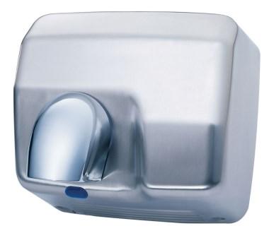 Sèche-mains optique inox satiné avec tuyère