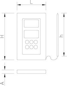 Digitales Thermometer mit Ofensonde