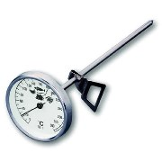 Round thermometer with probe for oven