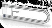 Barra de apoio inox de parede vertical basculante